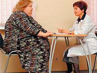 женщина, страдающая ожирением