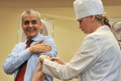 Введение вакцины в плечо