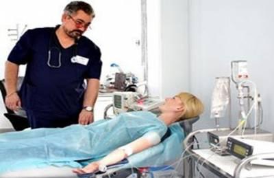 Процедура облучения крови лазером