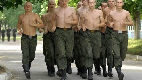 Солдаты на пробежке