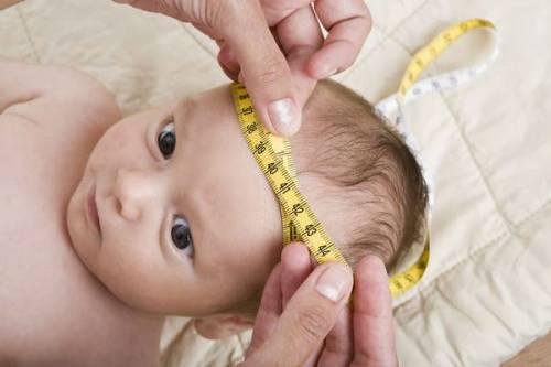 Измерение окружности головы у ребенка