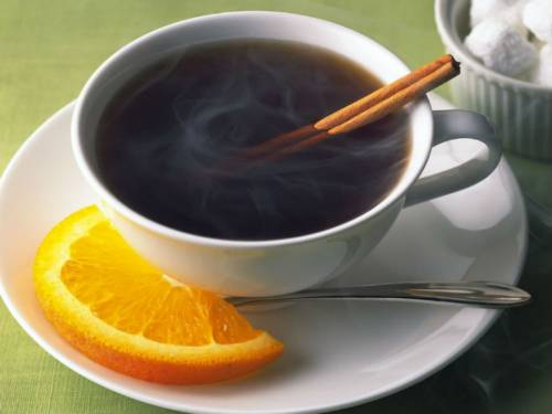 Чай с корицей и апельсином