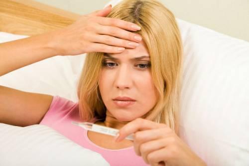Повышенная температура у женщины