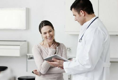 Пациентка на приеме у врача